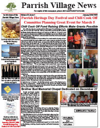Parrish Village News archived issue Januiary 2016