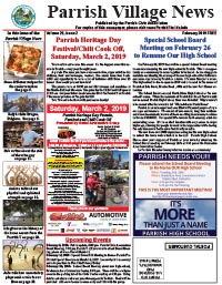 Parrish Village News archive issue February 2019