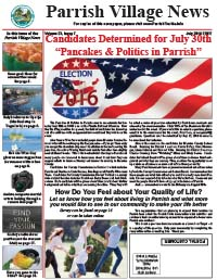 Parrish Village News archived issue July 2016