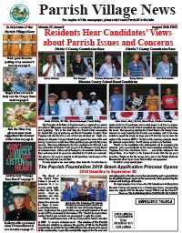 Parrish Village News archived issue August 2016