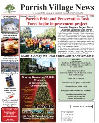 Parrish Village News archived issue November 2014